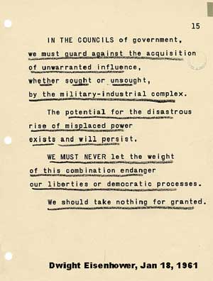 President Eisenhower's final words to the nation as president