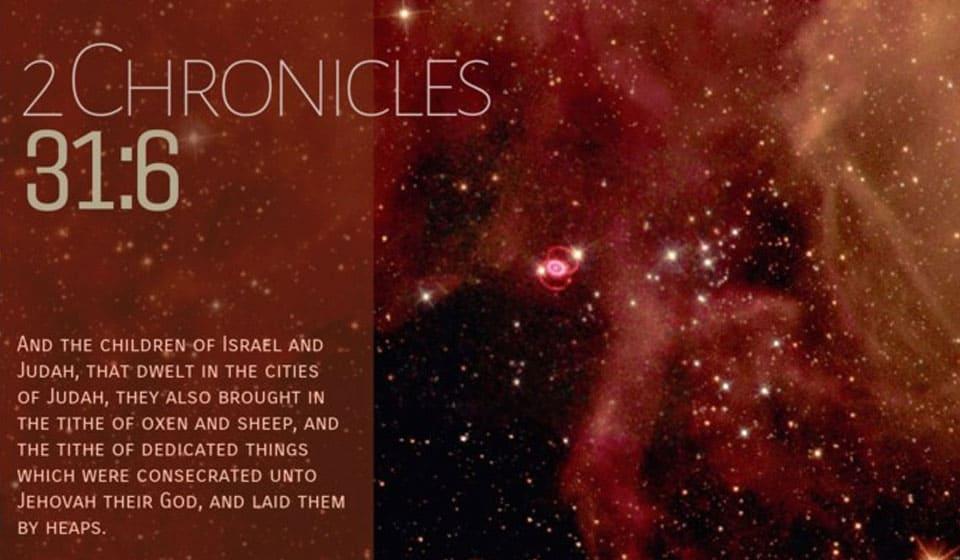2Chronicles 31:6