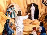 "Jesus raising Lazarus from the Dead. Is this symbolic when He returns and commands as He did with Lazarus (John 11:43) with ""Christians, Come forth""."