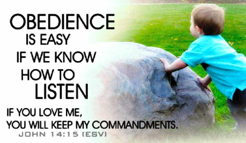 Obedience Is Still the Key