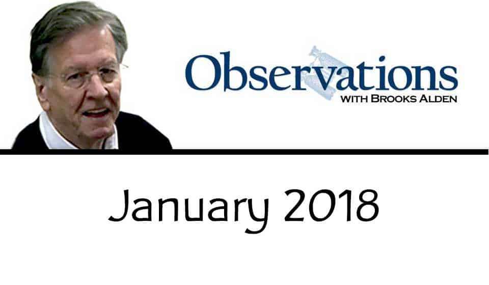 Observations with the Editor – January 2018