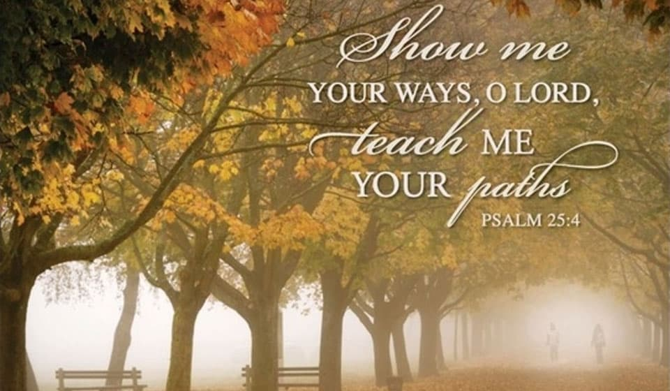 show me your ways o lord