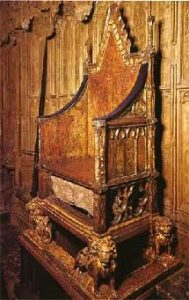 Stone of Destiny - Encased in the specially designed throne commissioned by Edward I